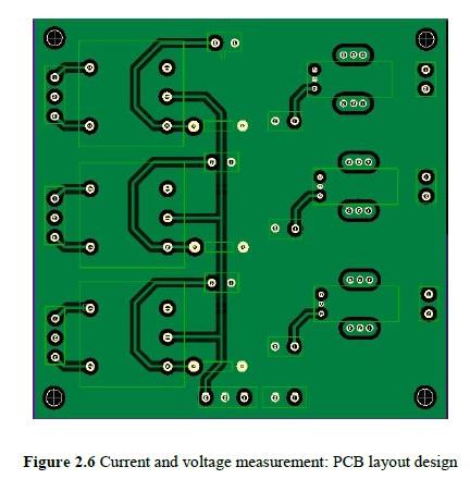 Figure 2.6 Current and voltage measurement: PCB layout design