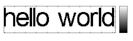 Convert ascii text to a binary image